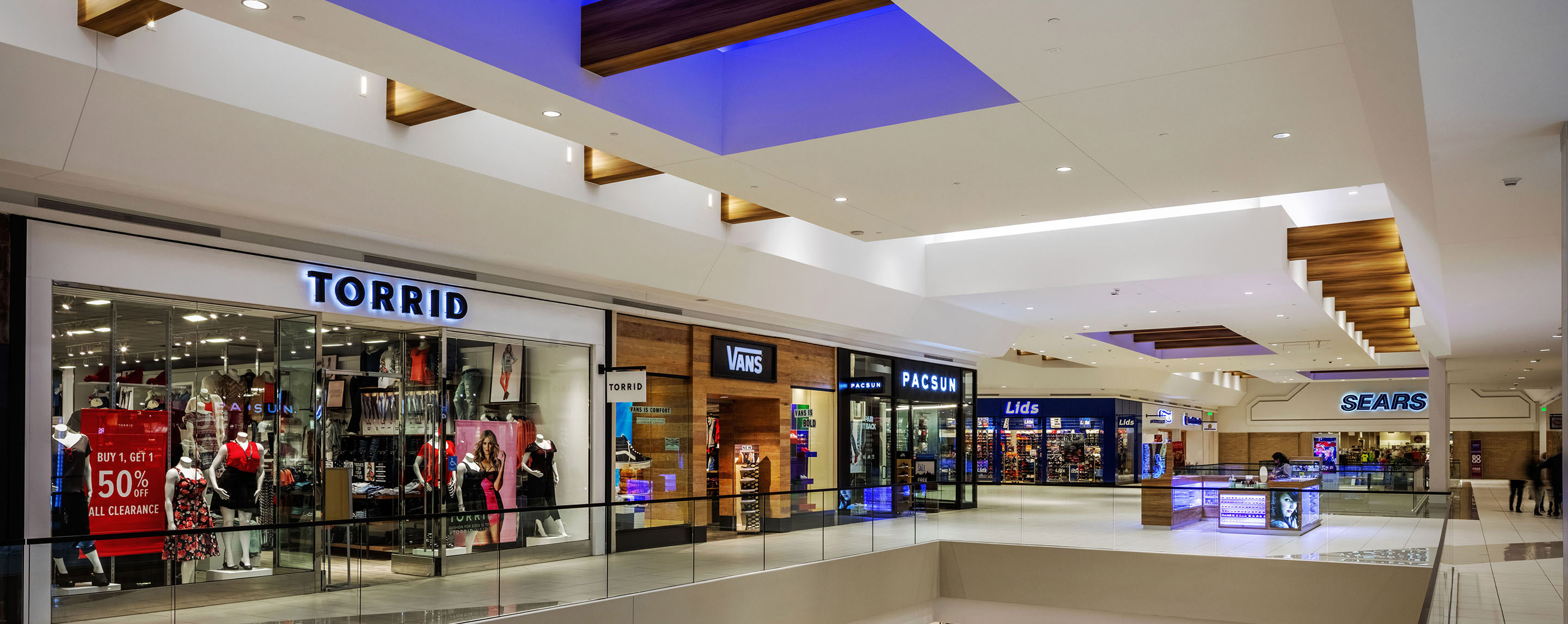 Torrid, Vans, PacSun, Lids and Sears are just a few of the stores that can be found on the second level at Southwest Plaza.