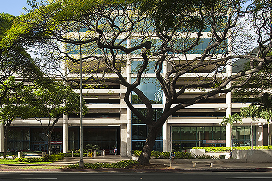 Outdoor view of Ala Moana Pacific Center office building